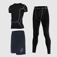 运动套装男跑步服速干裤透气篮球训练服健身服三件套