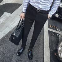 西裤男修身秋冬季休闲裤男士韩版潮流商务青年弹力小脚西装裤长裤