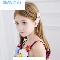 花童礼服饰品儿童小发卡女童装扮发卡粉色韩版小饰品头饰