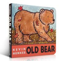 【全店300减100】英文原版进口 Old Bear Board Book 老熊(纸板书)/Kevin Henkes 启