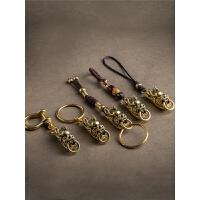 汽车钥匙挂件黄铜龙头钥匙扣男士个性创意龙饰品挂件钥匙链女