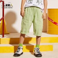 小虎宝儿男童纯棉短裤2020夏季新款洋气儿童七分裤中大童运动裤子