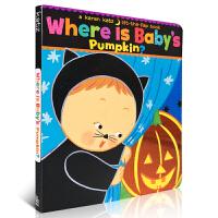 英文原版纸板书Where Is Baby's Pumpkin? 小宝贝的南瓜在哪里?