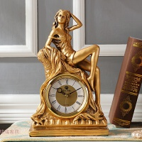 欧式客厅酒柜装饰品摆件 家居饰品隔断摆设 创意钟饰 工艺品座钟