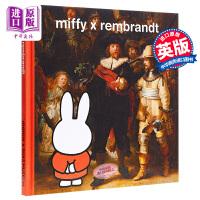 【中商原版】米菲兔与伦勃朗 Miffy X Rembrandt 儿童艺术启蒙绘本亲子共读 精装 英文原版 6-9岁