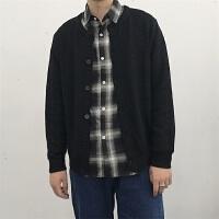 新款秋装男士复古开衫外套 青年菠萝纹韩版修身薄款针织衫潮男毛