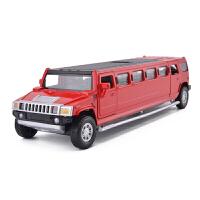 合金车儿童玩具车悍马加长房车 礼宾车加长合金兰博基尼仿真汽车模型