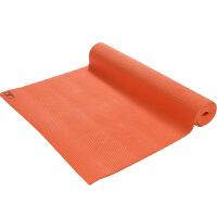 皮尔瑜伽 PVC6mm纯色防滑瑜伽垫橙色 (附带背包)