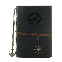 活页A6日记本子旅行本复古记事本海盗船笔记本