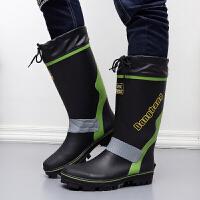 成人胶鞋长筒水靴钓鱼时尚雨靴春夏季雨鞋男高筒防滑橡胶鞋防水鞋