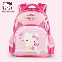 Hello Kitty凯蒂猫 KT1058玫红 凯蒂猫儿童书包女护脊小学生书包 当当自营