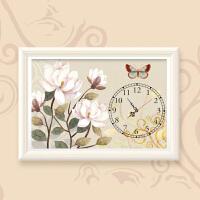 十字绣5d砖石画钟表客厅餐厅砖石绣卧室花卉砖石画