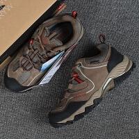 野外跑鞋男士户外男鞋登山鞋旅游鞋防水功能防滑反毛皮徒步鞋 棕色