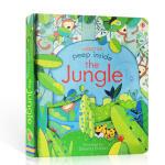 英文原版Usborne偷偷看里面纸板翻翻书 peep inside the Jungle 丛林 森林 机关立体纸板书