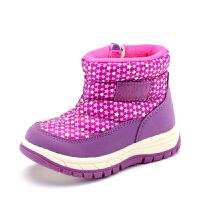【每满200减100】 SHOEBOX/鞋柜 新款女童童鞋保暖冬款短靴男童靴子潮 儿童雪地靴