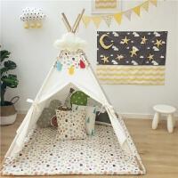 儿童帐篷卡通猫头鹰帆布印第安帐篷小孩室内玩具游戏屋