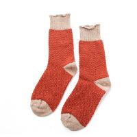 【内衣优选】日系羊毛堆堆袜加厚毛圈袜子女秋冬款短袜保暖透气复古中筒 均码