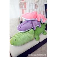 维莱 韩国原单 小鳄鱼抱枕毛绒玩具Q版公仔Q版 军绿 75CM