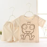 婴儿短袖男女宝宝衣服装新生儿夏季睡衣