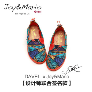jm快乐玛丽夏季新款 低帮平底手绘帆布鞋童鞋子懒人一脚蹬61679C