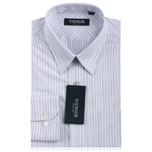 YOUNGOR雅戈尔紫色条纹长袖衬衫NP13289-33