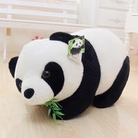 生日礼物熊猫公仔毛绒玩具黑白可爱大抱抱熊床上睡觉布娃娃送女友生日礼物生日礼物 1米(送)