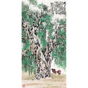 杜应强 《村口榕树》