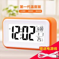 汉时钟表 闹钟创意LCD光感智能系列 液晶显示 夜光智能 静音卧室贪睡电子闹钟HA36 此款闹钟闹铃声约为65-75分