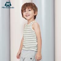 【2件4折】迷你巴拉巴拉男童家居背心套装夏装新款童装宝宝背心两件装