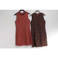 AA0475秋季新款韩版后隐形拉链圆领显瘦好搭配女无袖连衣裙