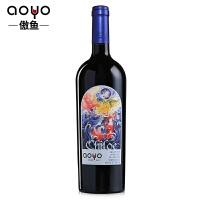 傲鱼AOYO智利原瓶进口红酒 奇洛埃精酿半甜赤霞珠干红葡萄酒750ml*1