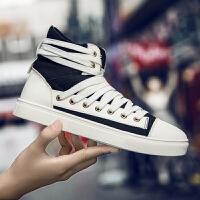 秋季新款帆布鞋男鞋子韩版潮流百搭休闲英伦嘻哈高帮鞋男潮鞋