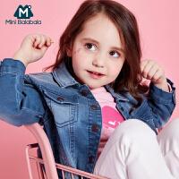 迷你巴拉巴拉女童宝宝长袖牛仔外套2018春装新款儿童韩版外套潮