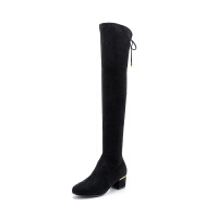 星期六(ST&SAT)冬季专柜同款绒面低跟过膝长靴SS84117657