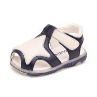 宝宝凉鞋男包头软底鞋子女夏季男童一小童婴儿学步鞋