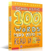 英文原版书 2年级全彩词汇练习 Scholastic 100 Vocabulary Words Kids Need t
