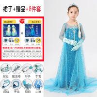 冰雪奇缘公主裙爱莎女童艾莎正版爱沙连衣裙女王万圣节儿童服装