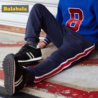 巴拉巴拉男童加绒长裤儿童裤子中大童童装秋冬2017新款休闲运动裤
