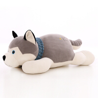 毛绒玩具狗趴趴狗软体玩偶公仔女生礼物睡觉抱枕布娃娃靠垫 浅灰色