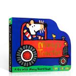 小鼠波波系列 英文原版 Maisy's Tractor 小鼠波波的拖拉机 低幼儿童启蒙异形纸板书 被落下的羔羊能够找到