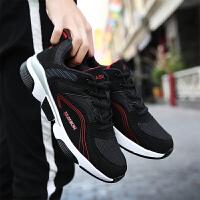 男鞋夏季透气青少年韩版潮流跑步鞋增高百搭网面中学生休闲运动鞋