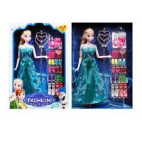 20190627014817491冰雪奇缘娃娃爱莎公主玩具安娜套装艾莎芭芘娃娃女孩玩具爱沙单个 12关节 艾莎公主礼品装