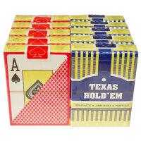 德州扑克牌 塑料扑克牌防水可水洗 专用磨砂PVC大字扑克牌10副装