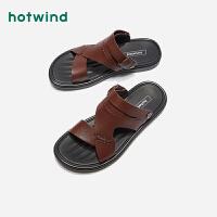 【限时特惠 1件4折】热风男士时尚凉鞋H64M9203