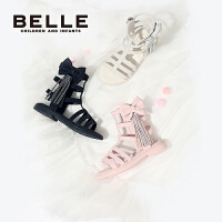 【169元任选2双】百丽童鞋女童时尚凉鞋夏季公主鞋2021新款中大童防滑软底女孩鞋子