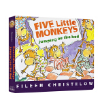 顺丰发货 Five Little Monkeys Jumping on the Bed 五只小猴子床上蹦蹦跳 Eile