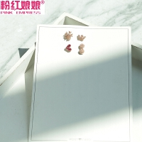 韩国迷你爱心花朵皇冠蝴蝶结耳钉女套装组合小巧淑女个性简约耳饰