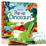 恐龙3d立体书 英文原版 Pop Up Dinosaurs (Pop Ups) 纸板书 认知识物绘本 3-6岁 usb
