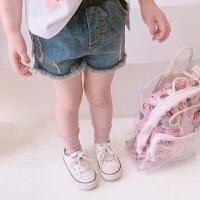 童装夏装新款女宝宝牛仔裤儿童短裤女童裤子小童牛仔破洞短裤潮