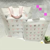 可爱爱心塑料胶袋服饰品礼品女装童装手提袋子批发定做 磨砂料